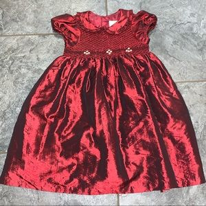 Rare Editions Red Smocked Dress Size 4T